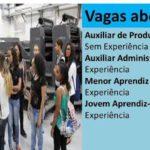 APRENDIZ SEM EXPERIÊNCIA AUXILIAR DE PRODUÇÃO Faixa Salarial: De R$ 1.001,00 homens e mulheres Envie seu currículo