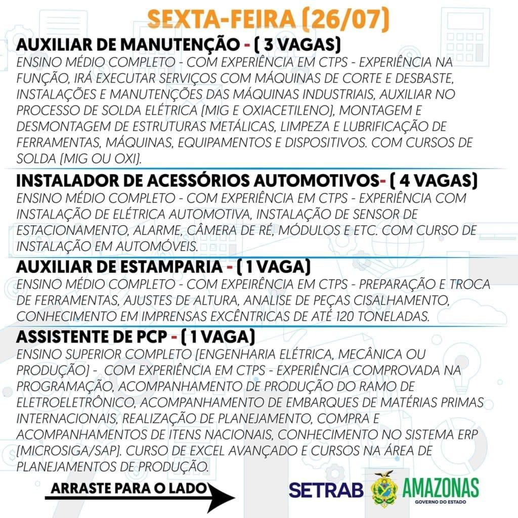 GOVERNO DO ESTADO OFERECE 555 VAGAS DE EMPREGO NESTA SEXTA-FEIRA 26 FAÇA SEU CADASTRO