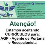 Real Nery Serviços está com vagas para Agente de Portaria & Recepcionista - Envie seu Currículo