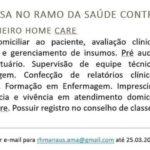 Empresa do ramo da saúde contrata; Enfermeiro