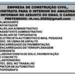 Empresa de construção civil, contrata para 32 cargos - Envie seu currículo!